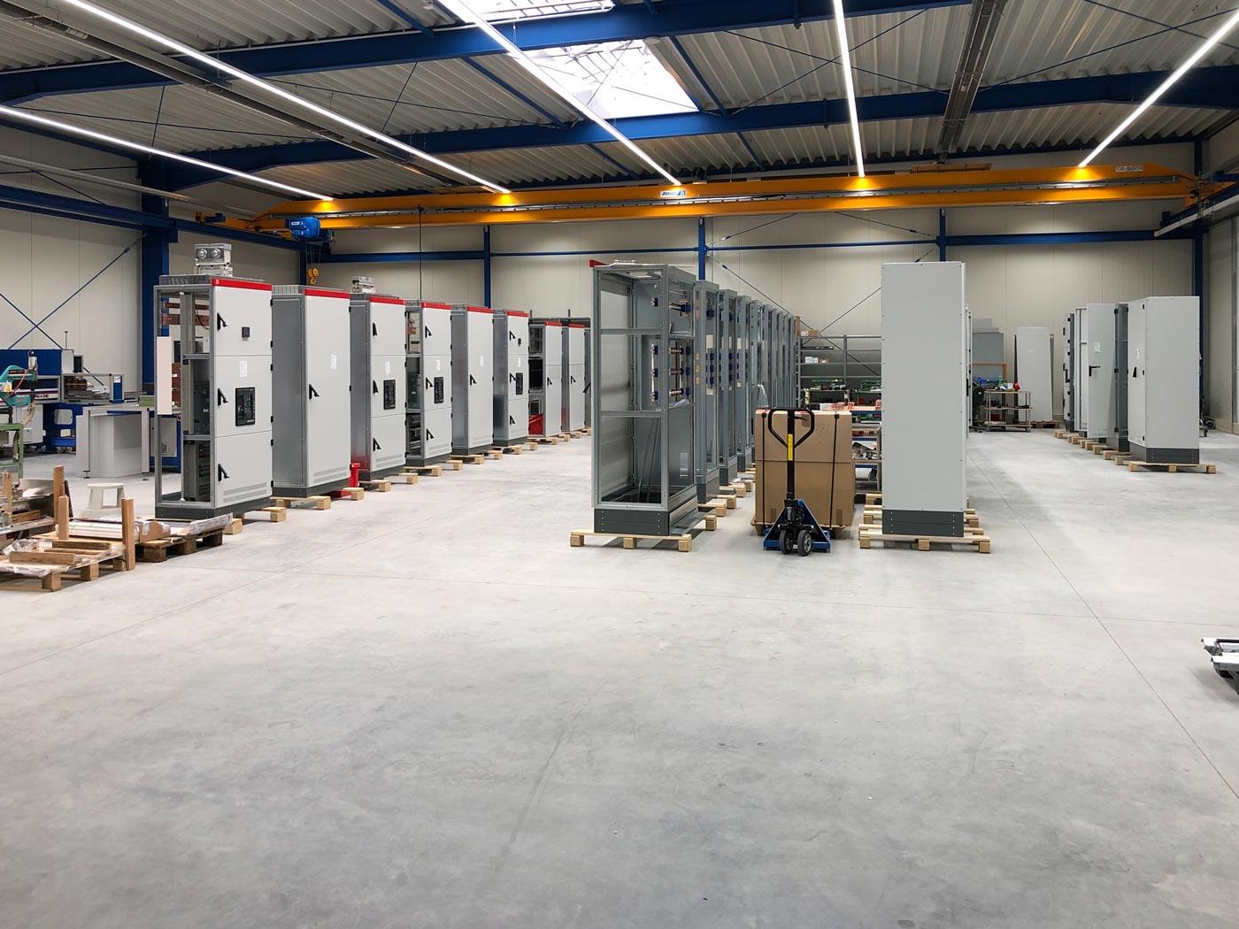 Kesselhut Anbau 2019: Die neue Produktionsfläche wird befüllt.